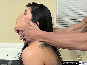 naughty cougar Romi Rain thirsts for deep cooch pulverizing