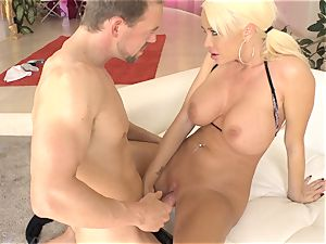 Summer Brielle opens wide for a mean steak