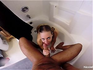 moist point of view shower bang-out with Nicole Aniston