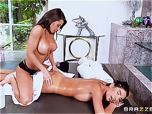 lubed and sleek scissoring with August and Madison