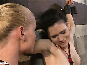 Kathia Nobili tormenting a nasty school girl
