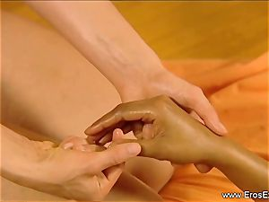 Slow voluptuous massage grope For chicks