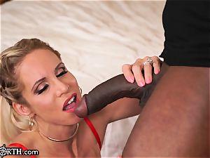 huge-chested anal cougar Nadia North vs. MANDINGO's gigantic penis