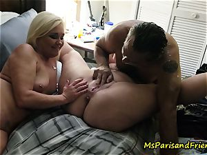 pumping out Swingers bang-out with Ms Paris and friends