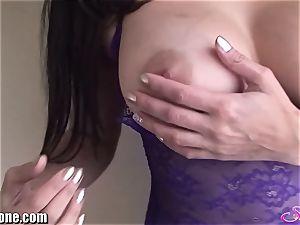 SunnyLeone Sunny Leone in cool purple underwear
