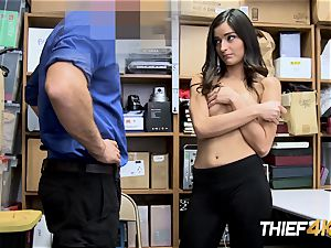 insatiable Emily is convinced into taking insane officers hefty yam-sized manmeat