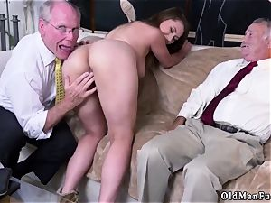 dad acquaintance s associate first-timer hardcore Ivy amazes with her gigantic orbs and rump