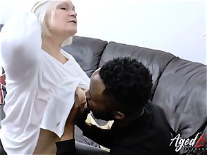 AgedLovE Lacey Starr gets multiracial hard-core