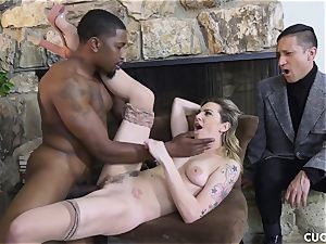 dark-hued stud smashes his manager bitchy wife Dahlia Sky