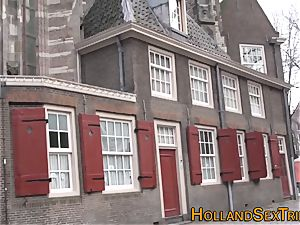 Real dutch cockslut stroking