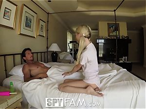 SpyFam Step daughter Piper Perri plow and internal cumshot