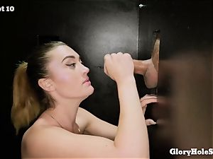Kat Monroe blows knobs at gloryhole