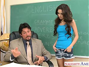 diminutive boobed student Trinity St. Clair penetrating