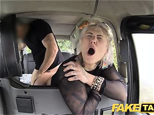 fake cab blonde milf gets surprise rectal intercourse