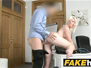 fake Agent steamy euro blonde beauty luvs rear end style