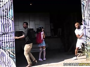 chinese Marica Hase Gives oral pleasure 15 crazy black dudes