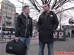 large Amsterdam hooker cockriding tourist