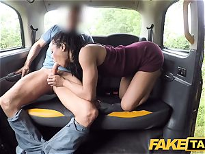faux taxi quick screwing and internal ejaculation for peachy arse
