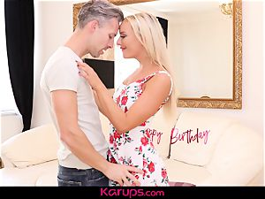 Karups - cougar Victoria unspoiled Has birthday fuck-a-thon