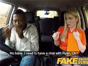 faux Driving school lengthy ebony salami satiates blond