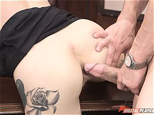 Kleio Valentien nailed in the office