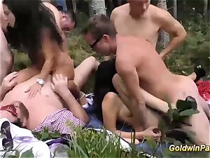 insane outdoor groupsex mass ejaculation hump