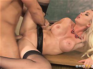 fabulous instructor Gigi Allens plows her dearest schoolgirl