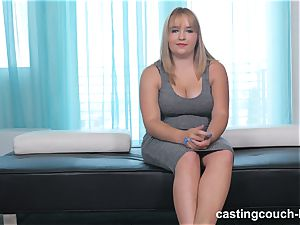 chubby cutie Dee arrives to the CastingCouch HD