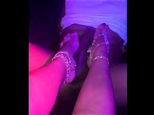 ADULTWORK brit hooker milf GIVES bbc gorgeous FOOTJOB WITH happy finishing
