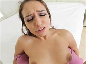 wondrous Sara Luvv providing a super-hot pov blowjob and plumb