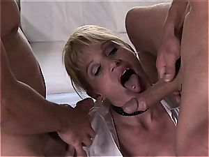 insane German mummy treats many pricks with all fuck-holes