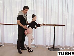 youthfull ballerina attempts anal invasion for the first time