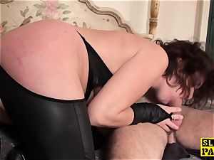 redhead british victim butt-fucked and corded