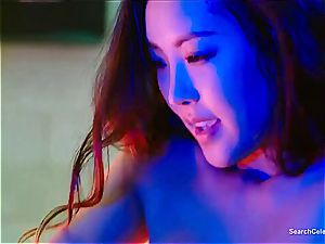 asian Chae Min-Seo on her knees deep throating knob