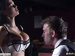 cool huge-chested waitress Jasmine Jae gets her cock-squeezing cunt boned by Danny