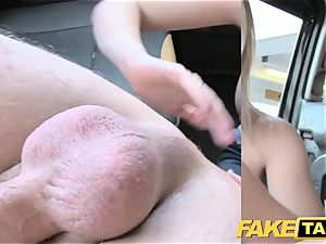 fake taxi small blond with gigantic funbags gets dirty