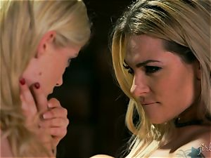 blond cuties Dahlia Sky and Charlotte Stokely