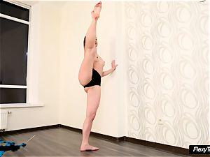 highly warm diminutive Gymnast Anna