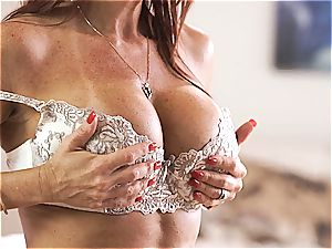 MomsTeachSex mom and sonny make three-way fuck-a-thon gauze