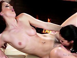 Karlie Montana and Megan Rain impressive facesetting and ejaculation