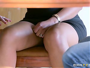 Mary Jean shares her stud with sumptuous blonde Christie Stevens