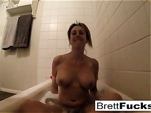 Brett Rossi takes a super-fucking-hot bathtub that makes her real kinky