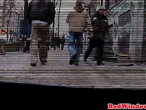 Doggystyled amsterdam prostitute screws tourist