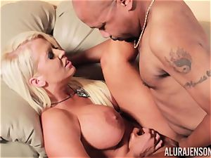 Alura Jenson slammered testicles deep and receives super-steamy hot internal cumshot