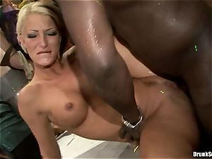 Bibi Fox with sweetie pals packed with red-hot jizz