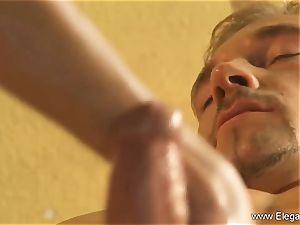 The finest Golden handjob massage Ever