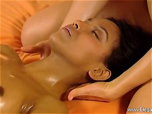 massage For dark-haired girls