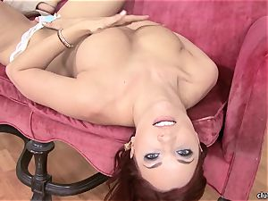 Jayden Cole whips out her delicious obese baps