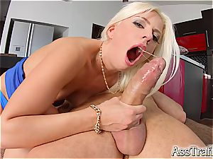 butt Traffic tough anal romp for handsome blonde Jessie Volt