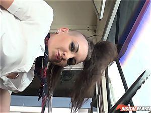 super hot emo damsel Rachael Madori romped on the schoolbus
